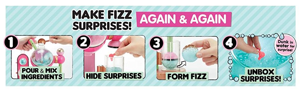 lol surprise fizz maker playset 6