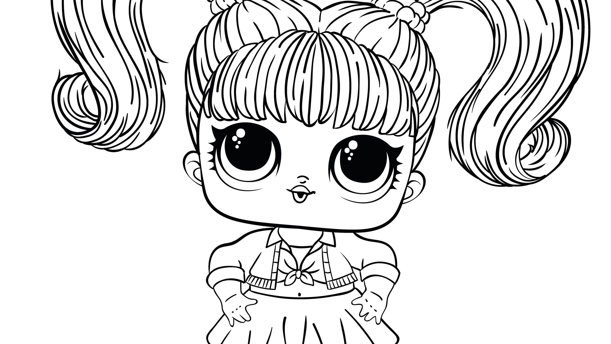 Coloring pages LOL Surprise Hairgoals