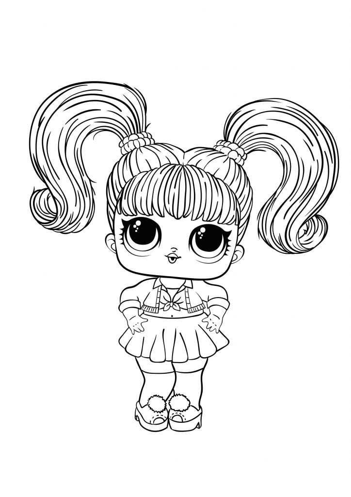 Coloring Pages Lol Surprise Hairgoals And Lol Surprise