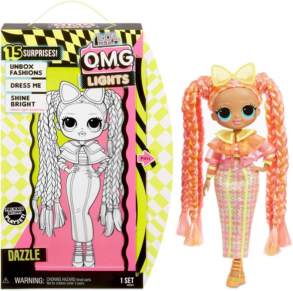 lol surprise omg lights dazzle doll 3